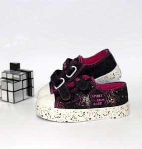 Кеди джинсові для дівчинки - купити дитячі кросівки для садка