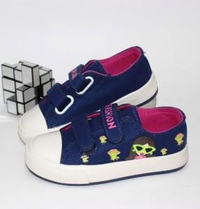 Кеди на липучках для дівчинки - купити дитячі кросівки для садка