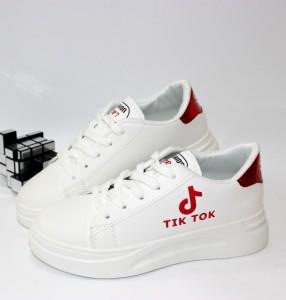 Білі кросівки з червоним задником - купити в інтернет магазині в Запоріжжі, Дніпрі, Харкові