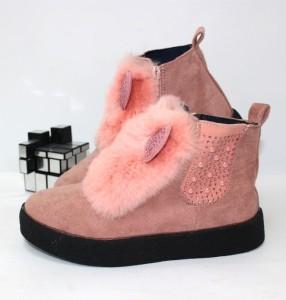 Черевики для дівчаток з вушками - черевики для дівчаток демісезон, дитяче взуття інтернет магазин, взуття дитяча знижки, осіння взуття