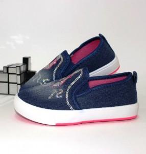 Сліпони джинсові для дівчинки - купити дівчаткам для школи
