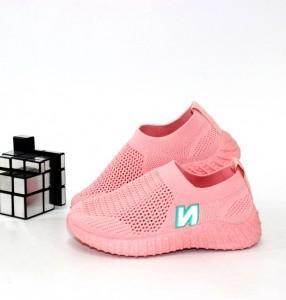 Рожеві текстильні кросівки для дівчаток - купити дитячі кросівки для садка