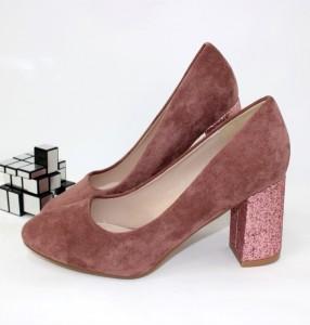 Туфлі жіночі на стійкому каблуці - туфлі на шпильці, туфлі в Україні, туфлі зі стразами