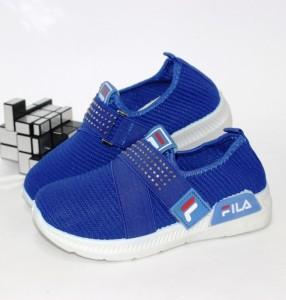 Сині текстильні кросівки на липучці - купити дитячі кросівки для садка