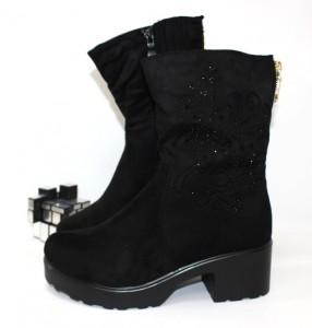 Весняні чоботи - Чоботи жіночі середній каблук