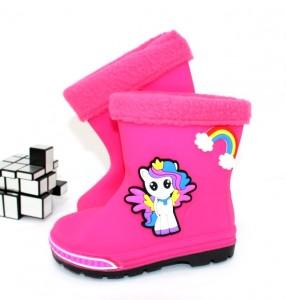 """Купити Дитячі гумові чоботи для дівчаток ОВТ p-109965. Взуття в роздріб - """"Перший взуттєвий"""""""