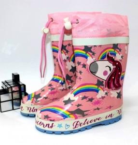 """Купити Дитячі гумові чоботи для дівчаток Kimboo p-110600. Взуття в роздріб - """"Перший взуттєвий"""""""