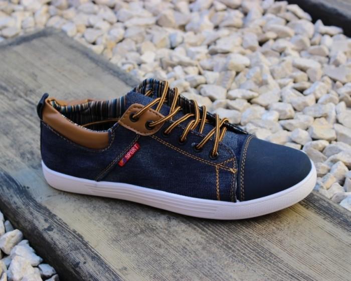 f4d28609a В наличии мужская обувь оптом - качественные польские кеды 601 BLUE