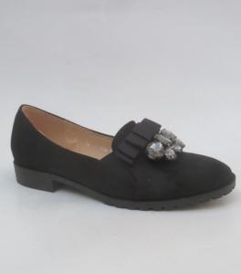 Женские туфли оптом - стильные туфли на осень 0657 BLACK