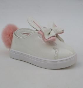 Купить обувь оптом в Украине - слипоны зайчики для модниц 1312-3 WHITE