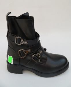 Женская обувь осень - оптом модные полусапоги 1588 BLACK