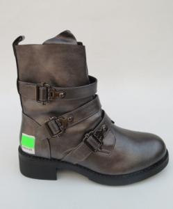 Женская обувь осень - оптом полусапоги осенние 1588 GREY