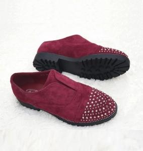 Женские туфли оптом - модные туфельки 22-2 RED