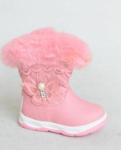 Детская обувь опт - зимние сапожки 2390E PINK в интернет магазине, Украина