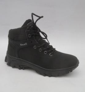 Мужская зимняя обувь оптом - ботинки из Польши для мужчин 299-A1 BLACK