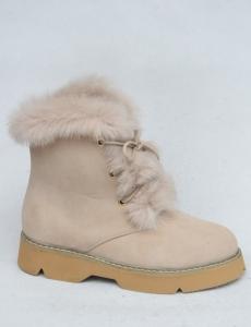 Купить оптом тепленькие зимние полусапожки 3143-14 BEIGE - недорого в интернет-магазине 1shoes