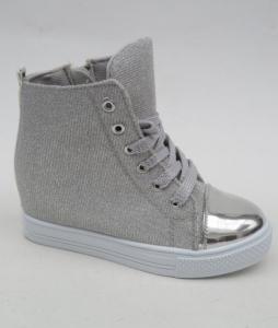 Обувь детская оптом - купить сникерсы для девочки 387-2 SILVER