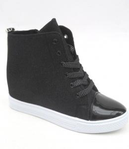 Обувь детская оптом - купить модные осенние сникерсы 387-4 BLACK