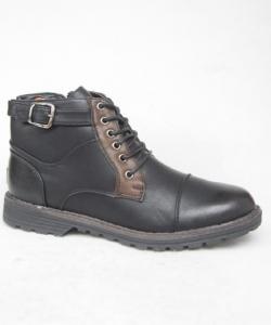 Мужская зимняя обувь оптом - ботинки для стиляги 3967 BLACK