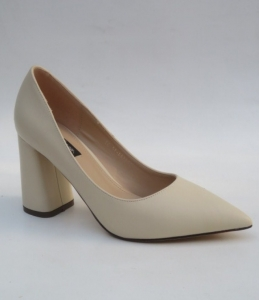 Туфли на шпильке оптом - туфли для модницы 5144-14 BEIGE