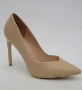 Туфли на шпильке оптом - бежевые шикарные туфли Вицес 5164-14 BEIGE