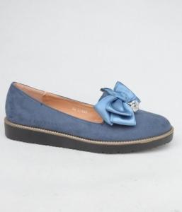Женские туфли оптом - голубые туфли 522-5 BLUE