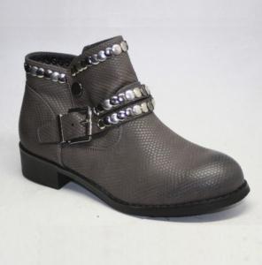 Женская обувь осень - оптом стильные ботинки 6091-PA GREY