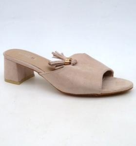 Дешевая обувь оптом - купить бежевые шлепанцы 6243 BEIGE