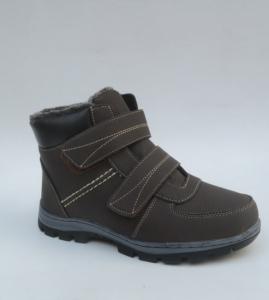 Мужская зимняя обувь оптом - мужские ботинки 703-7 BROWN