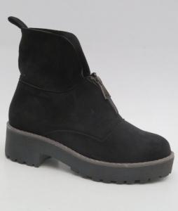 Женская обувь осень - оптом стильные зимние полусапожки 8313-1 BLACK