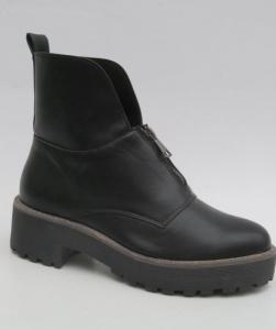 Женская обувь осень - оптом зимние сапожки 8313-1A BLACK