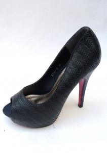 Туфли на шпильке оптом - шикарные туфли на каблуке 8774-15 BLUE