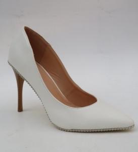 Туфли на шпильке оптом - белые свадебные туфли 9218-41 WHITE