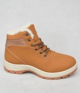 Мужская зимняя обувь оптом - стильные ботинки 9580-16 CAMEL