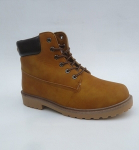 Мужская зимняя обувь оптом - коричневые ботинки мужские A62-8 CAMEL