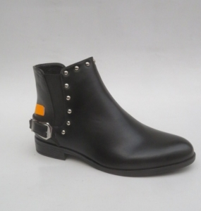 Женская обувь осень - оптом стильные весенние ботинки BM166 BLACK