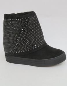 Женская обувь осень - оптом шикарные женские ботинки 6353-Y BLACK