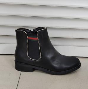 Женская обувь осень - оптом стильные и удобные ботинки 6548 black
