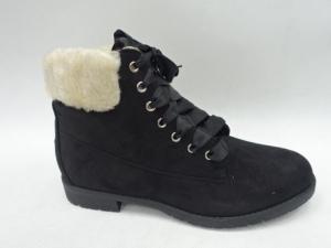 Купить оптом стильные молодежные ботинки C7100 BLACK - недорого в интернет-магазине 1shoes