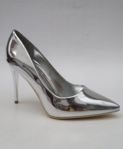 Туфли на шпильке оптом - туфли классика серебро C-39 SILVER