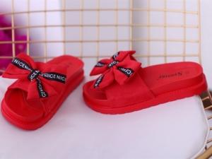 Дешевая обувь оптом - купить стильные шлепанцы CK92 red