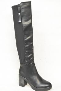 Женская обувь осень - оптом стильные ботфорты E8515 BLACK