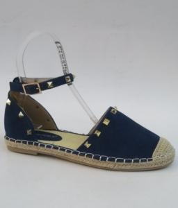 Дешевая обувь оптом - купить синие летние эспадрильи 2435 NAVY