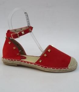 Дешевая обувь оптом - купить красные летние эспадрильи 2435 RED
