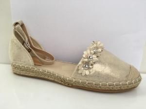 Дешевая обувь оптом - купить классные молодежные летние эспадрильи 66-306 GOLD
