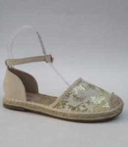 Дешевая обувь оптом - купить летние эспадрильи босоножки 7006 GOLD