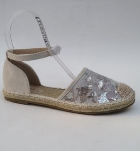 Дешевая обувь оптом - купить эспадрильи-босоножки 7006 SILVER