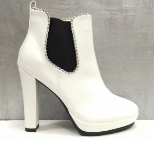 Женская обувь осень - оптом эффектные ботинки   f155-2a white