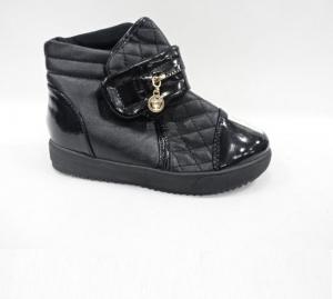 Обувь детская оптом - купить черные сникерсы для девочки f519-5 black