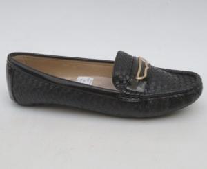 Женские туфли оптом - мокасины FTH7 BLACK
